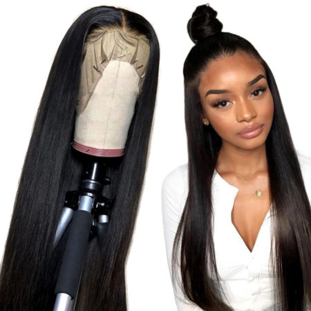 Burmese hair full lace straight wig