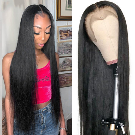 European hair full lace straight wig