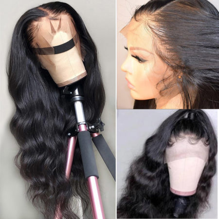 Indian hair 360 lace body wave wig