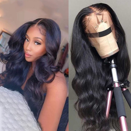 Indian hair full lace body wave wig