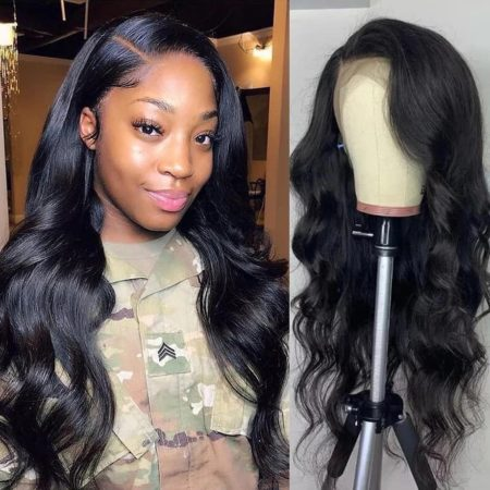 Malaysian hair 13x4 body wave wig