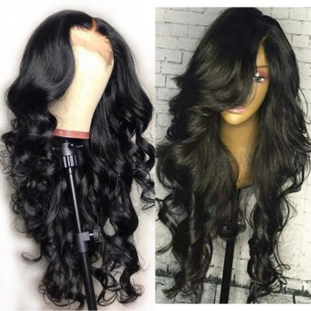 Malaysian hair 360 lace body wave wig