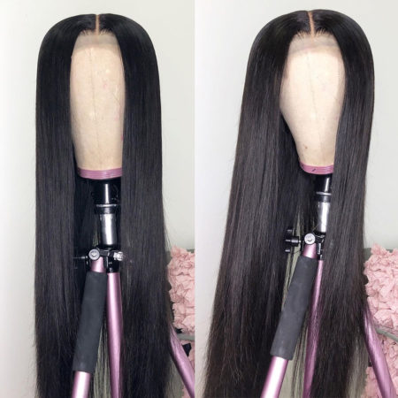 Malaysian hair 4x4 straight wig