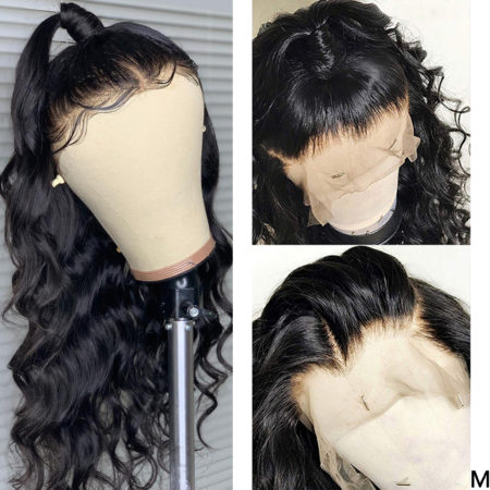 Malaysian hair full lace body wave wig