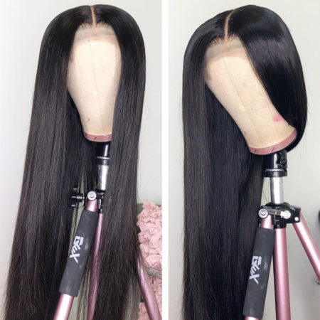 Malaysian hair full lace straight wig