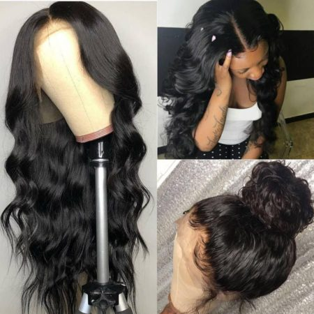 Mongolian hair 13x4 body wave wig