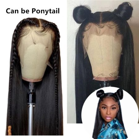 Mongolian hair 13x4 straight wig