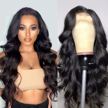Mongolian hair 13x6 body wave wig