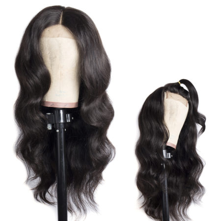 Mongolian hair 5x5 body wave wig
