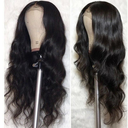 Mongolian hair full lace body wave wig