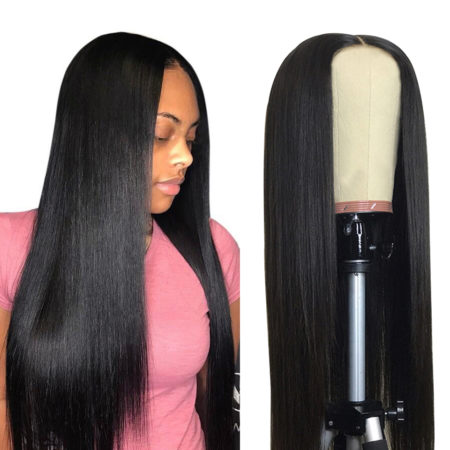 Peruvian hair 360 lace straight wig