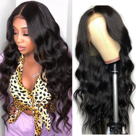 Peruvian hair 5x5 body wave wig