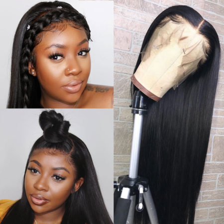 Peruvian hair full lace straight wig
