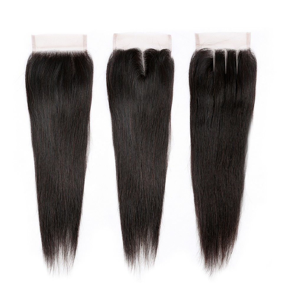 straight 4x4 hair closure des4