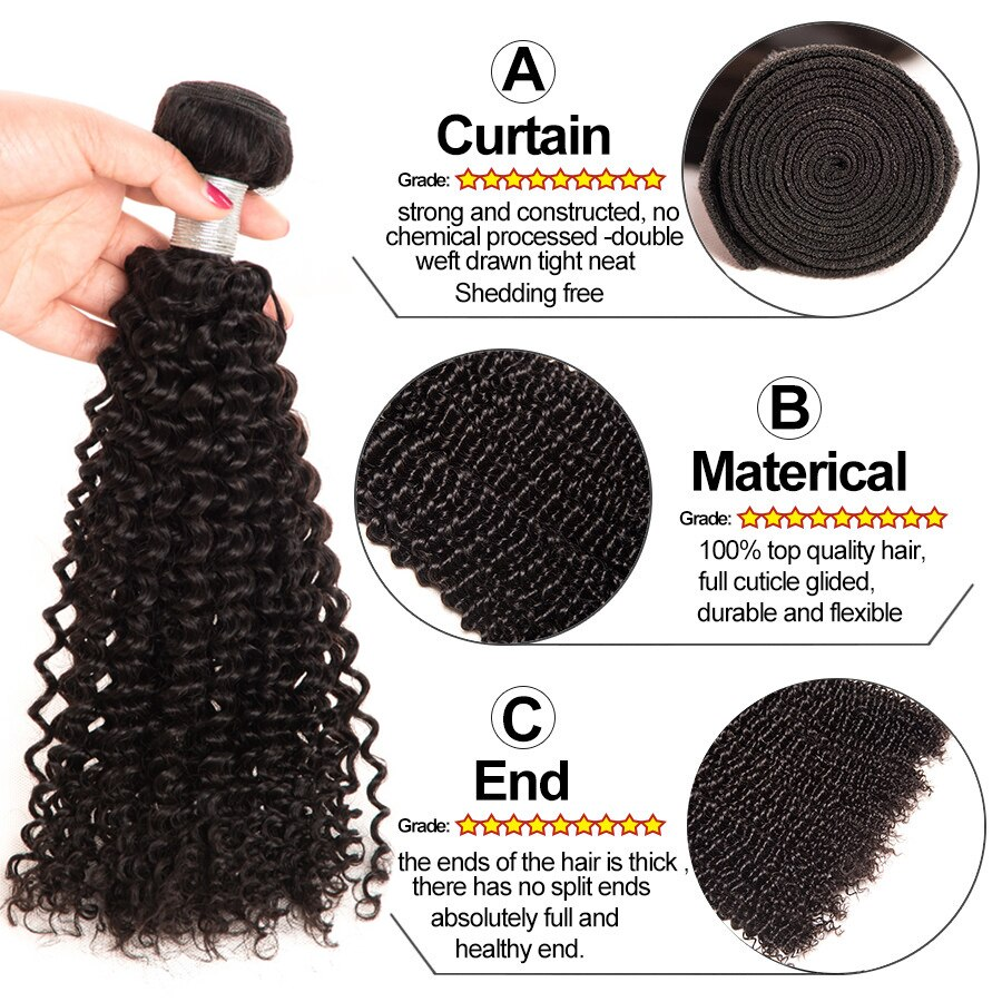 kinky curly peruvian hair bundles des1
